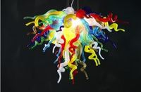 Multi Color Murano Vidro Pendurado Lustre de Cristal Moderna Sala de Jantar LEVOU Decorativo