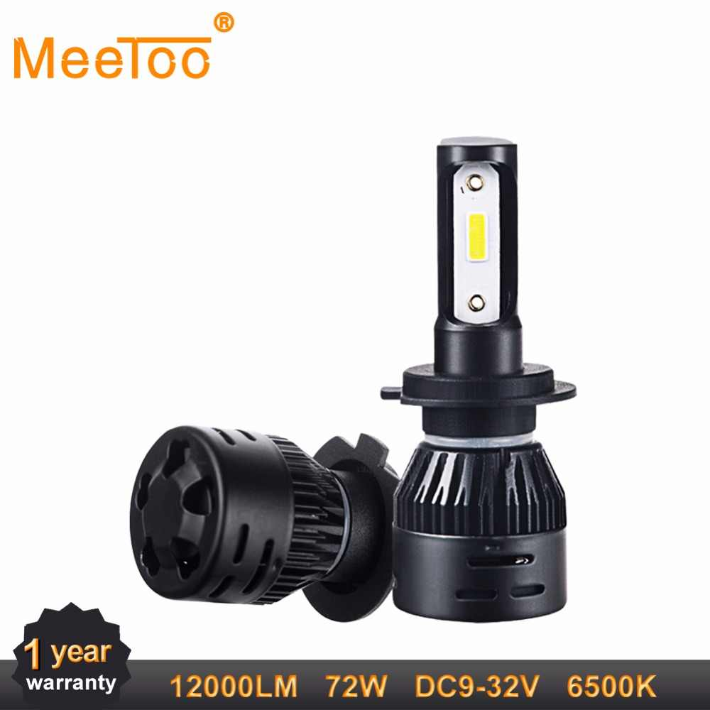 H4 Led H7 12V Car Headlight Bulb 9005 HB3 9006 HB4 72W Mini Auto Headlamp H1 H8 H9 H11 12000Lm DOB Chips Ice light Led lamp 24V