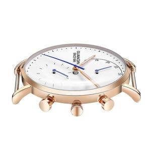 Image 2 - relogio masculino GUANQIN Brand Luxury Watches Men Fashion Creative Chronograph Luminous Analog Retro Leather Strap Quartz Watch