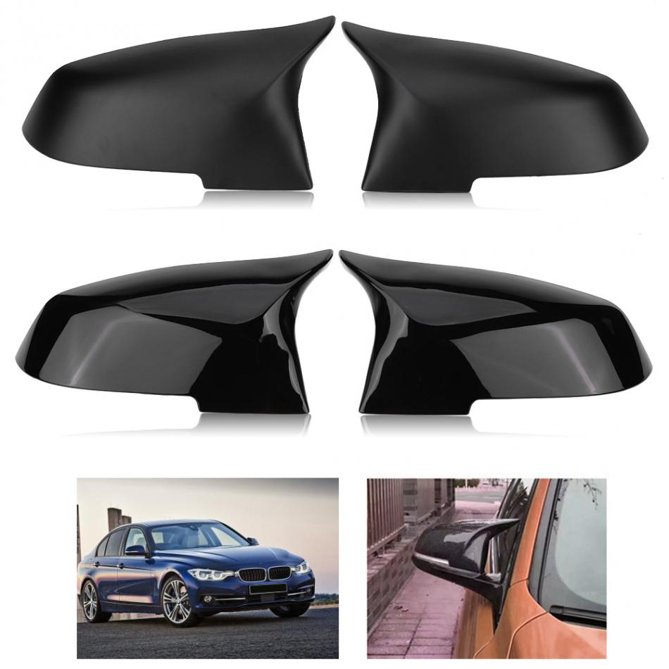 1Pair Rearview Mirror Cover Cap for BMW 220i 328i 420i F20 F21 F22 F30 F32 F33 F36 X1 E84 Mirror Housing Cover Rearview Cap