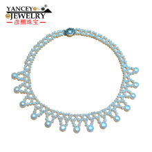 YANCEY Exclusive design, Natural Real  White Pearl Necklace for women/girl China Hot Sales, Fashion luxury, With S925 silver