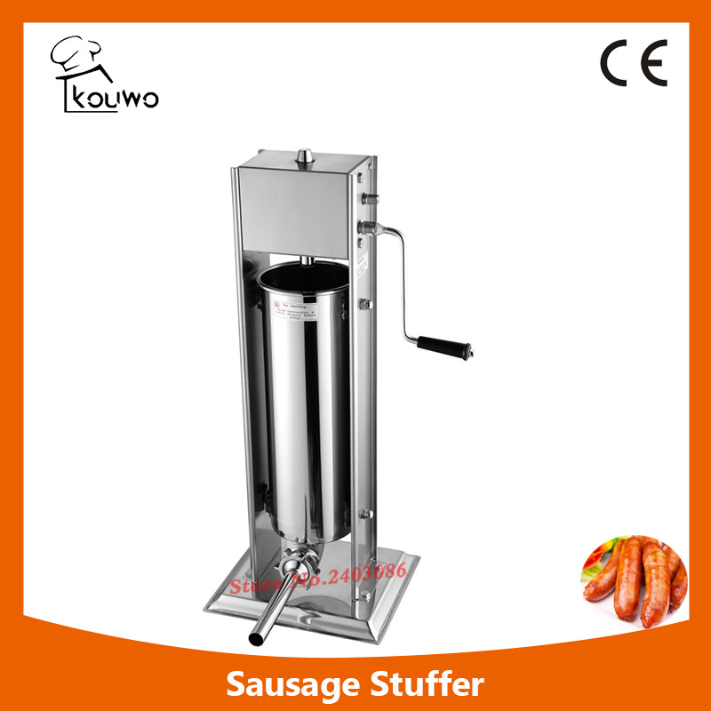 7L vertical manual stainless steel sausage stuffing machine with different sausage funnel,sausage maker,sausage making machine 2l spanish manual stainless steel churro maker machine
