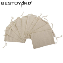 10PCS 8 X 10cm Linen Jute Drawstring Gift Bags Sacks Party Favors Birthday Wedding Decoration Supplies(China)