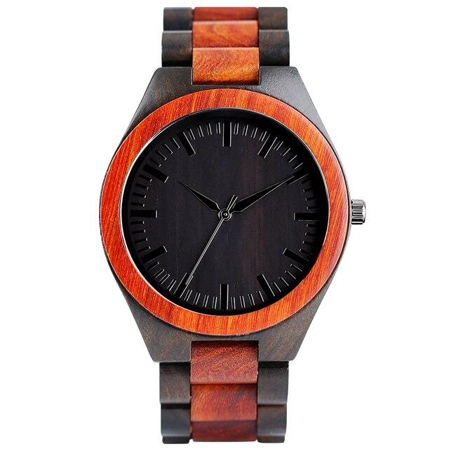 Relojes de madera para hombres naturaleza sándalo moderno con estilo completo de bambú correa de madera brazalete de moda Casual reloj de pulsera para hombre