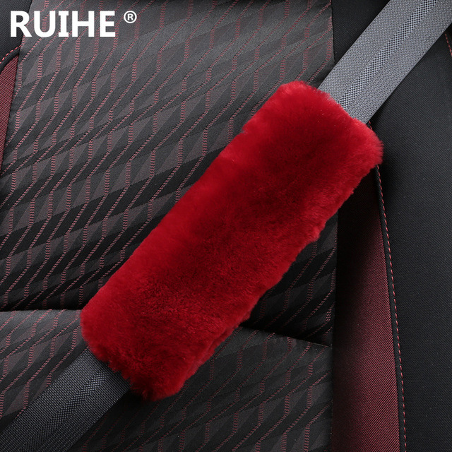 100% lana real cinturón shouldersleeve autopartes interiores Han polvo auto de seguridad cinturón de lana