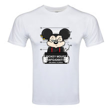 Neue mickey drucken tees maus t-shirt männer tops hip hop casual lustige hund cartoon t-shirt komfort t hemd(China)