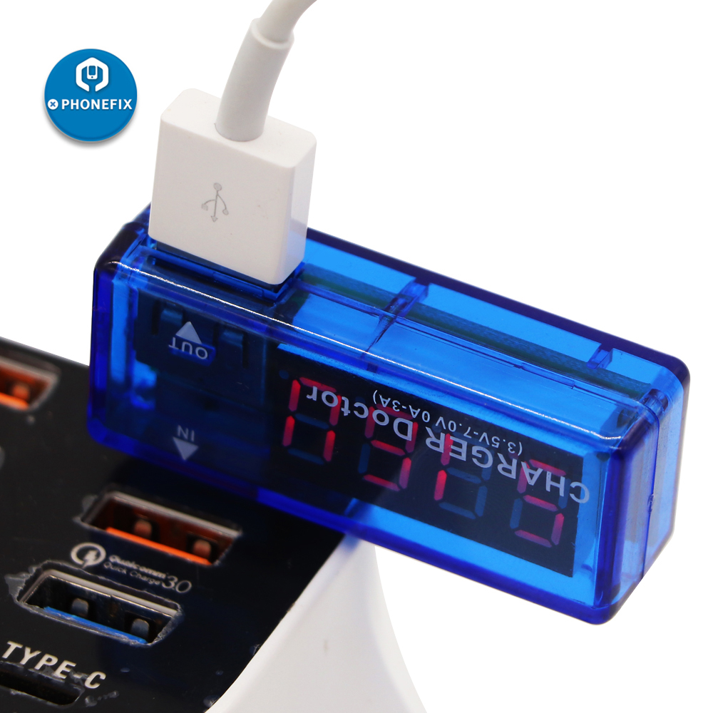 Phone Motherboard Power Charger Doctor USB Detector Repair LCD USB Port Output Current And Output Voltage Charger Tester Meter
