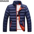 EINAUDI New Mens White goose Down Parkas Thin Style Soft Man Winter Warm Coats Stand Collar Casual Comfortable Winter Jackets