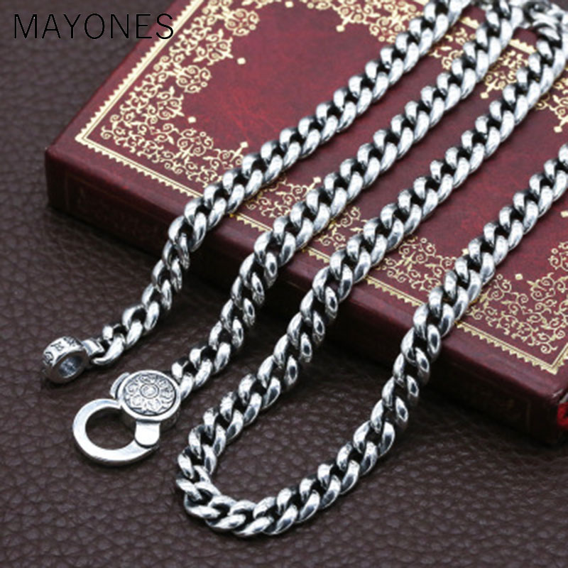 7mm 100% 925 Silver Tibetan Six Words Proverb Necklace Sterling Buddhist OM Mantra Vajra Necklace Tibetan Dorje Symbol Necklace7mm 100% 925 Silver Tibetan Six Words Proverb Necklace Sterling Buddhist OM Mantra Vajra Necklace Tibetan Dorje Symbol Necklace