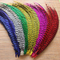 Wholesale 100Pcs/Lot Natural Lady Amherst Pheasant Feathers 80 90CM 32 36inch jewelry Wedding Decorations Pheasant Feather plume