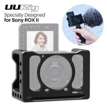 Металлический Чехол UURig для видеокамеры Sony RX0 II, рукоятка для селфи VLOG с холодным башмаком для микрофона, легкая клетка для камеры DSLR 1/4