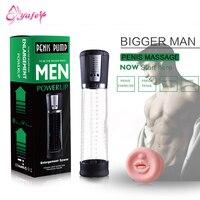 Male Penis Enlargement Enhancer Vacuum Pump Penis Extender Man Sex Toys Penis Enlarger Extension Adult Sexy Product for Men