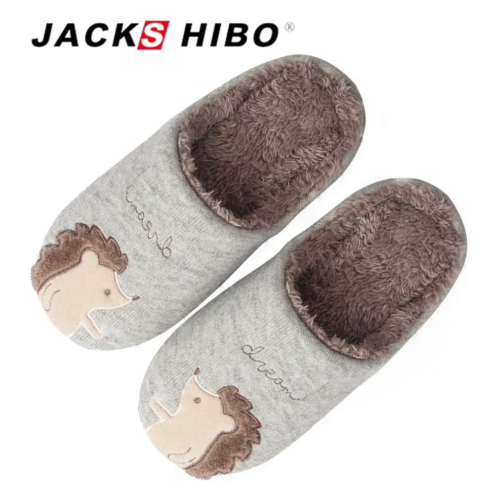 JACKSHIBO Winter Kids Slippers Indoor Shoes Home Slippers Anti-skid Child Slip-on Cotton ...