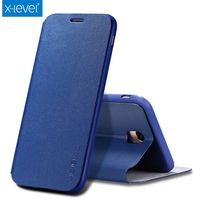 X Level Fashion Slim Leather TPU Flip Case For Samsung Galaxy J5 2017 Luxury Phone Case