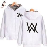 Alan Walker Plus Thick Hoodies Sweatshirt Supper Warm Coat Winter Zipper On My Way Print Jacket Unisex Streetwear Oversized