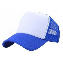 Vogue ajustable gorra de béisbol camionero sombrero blanco curva sombrero  de malla de Color liso 494ea193e97