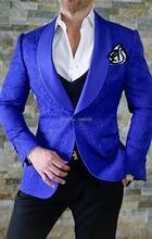 Elegant Brand Man Suit Slim Fit 2018 Royal Blue Smoking Tuxedo Dress Classic Suit Men Prom Suits For Wedding Groom 3 Pieces Suit