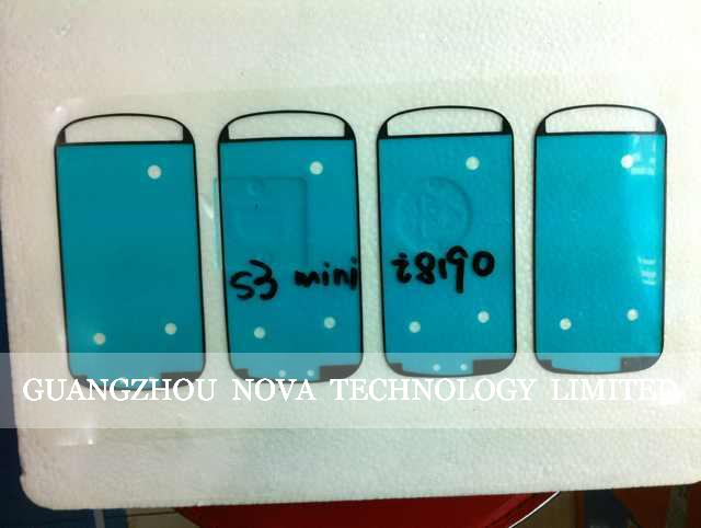 Adhesive Glue For Samsung S3 Mini I8190 Digitizer LCD assembly Frame Cover ; Free Shipping 10pcs/lot image