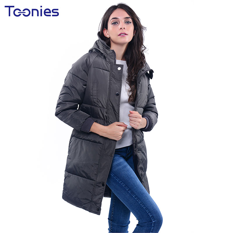 2017 Fashion Winter Coat Jacket Women Letter Printed Hooded Plus Size Long Coats Thick Outerwear Casaco Feminino Chaqueta Mujer plus size letter print hooded sweatshirt dress