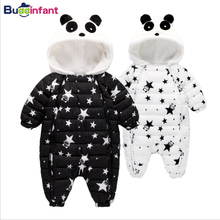 Buddinfant Down Cotton Parkas Baby Rompers Winter Kids Boys Clothes Baby Girls Warm Coat Panda Infant Snowsuit Toddler Outerwear(China)
