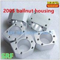 Hohe qualität 1 teile/los Aluminiumlegierung 2005 kugelmutter gehäuse haltewinkel-halter für SFU2005 SFU2010 Gerollten kugelgewinde