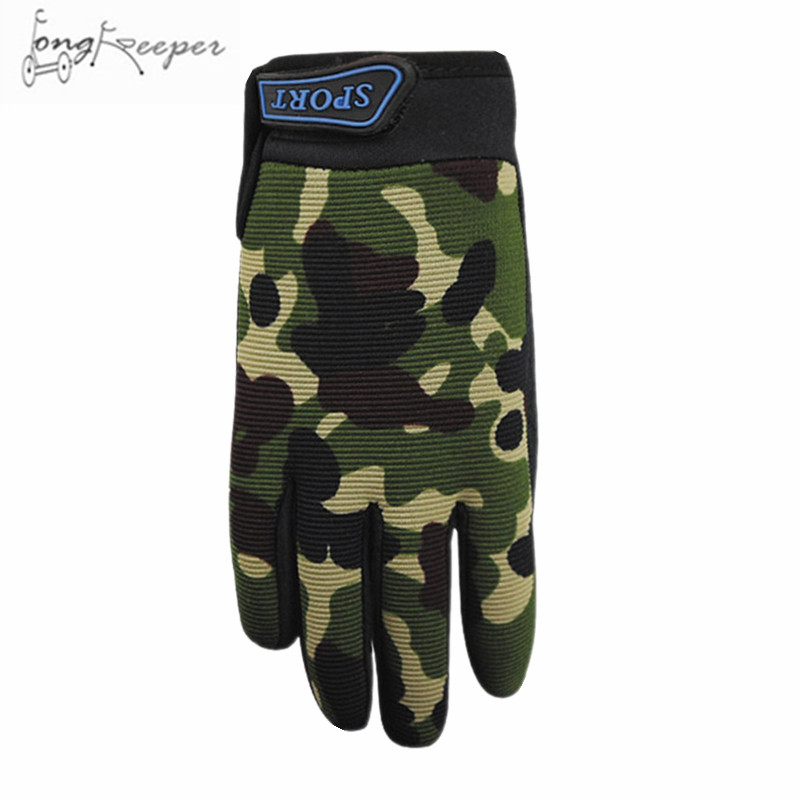 Army Green 5-13 Years Kids Children Full Finger Hunting Gloves Military Tactical Shooting Gloves Cycling Boys Full Finger Glove