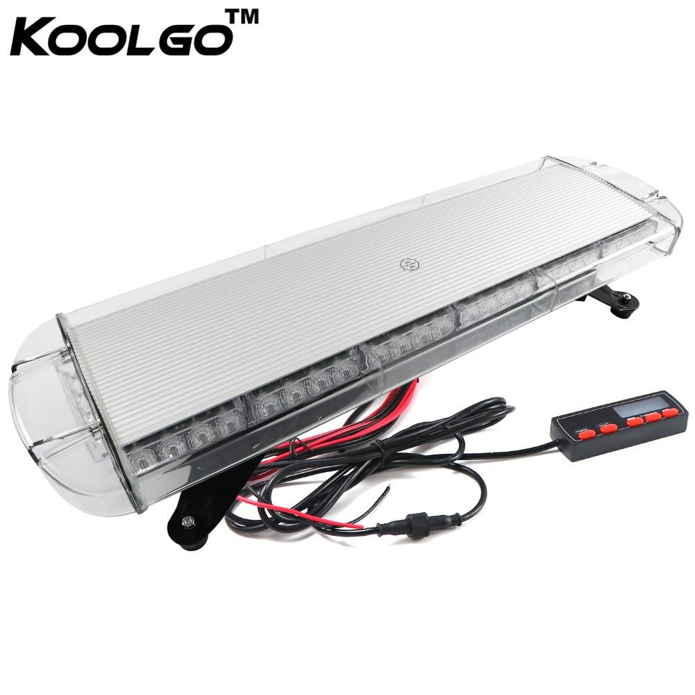 "11/"" 30 LED Beacon Wrecker Flashing Warning Light Emergency Red//White LightBar"