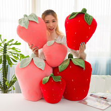 New Pink Or Red Soft Strawberry Plush Fruits And Vegetables Stuffed Toys Beautiful And Lovely Hot Sale And For Free Shipping
