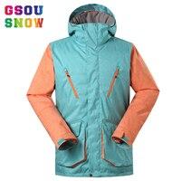 Gsou Snow Men Ski Jackets Windproof Waterproof Snowboard Jacket Men Outdoor Thermal Warmth Winter Jackets Breathable