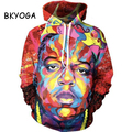 BKYOGA Fashion Colorful Men 3D painting sweatshirt hoodies long sleeve Suit Hoodie Outside Woman Sudaderas