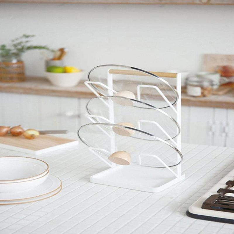 Cutting Board Holder Kitchen Organizer Rack Storage Cover Stand Stainless Steel Dish Rack Cutting Boards pot Lid 3