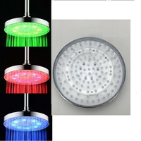 8 Inch ABS Chrome Rainfall LED Head Shower Head Round Chrome Bathroom Shower Head LED Water