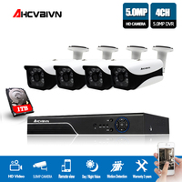 4CH 5MP AHD DVR Kit CCTV Camera System 4PCS 5.0MP Security Camera Indoor Outdoor VandalProof Video surveillance Camera 2tb