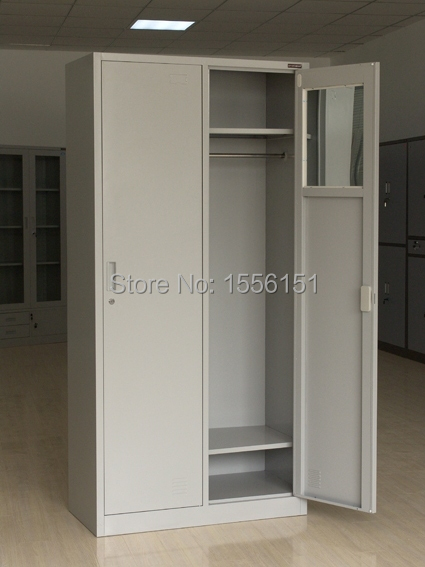 fashion style office door metal cabinet wardrobe for office school and dormitory on alibaba