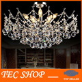 JH Modern LED Crystal Chandelier Light Fixture Chrome Finish Luster Crystal Lamp for Living Room Bedroom 100% Guaranted Lighting