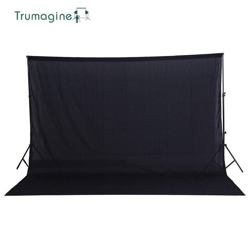 TRUMAGINE 3*2 M/10 * pés de Algodão Não-poluente Photo studio Backdrops Fotografia Estúdio de Fotografia Preto tela Adereços