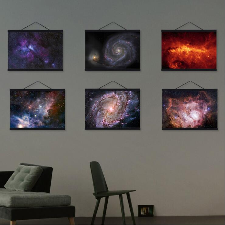 Milky Way Galaxy Space Stars Dark Universe Nordic Canvas Painting Picture Wall Posters Home Decor