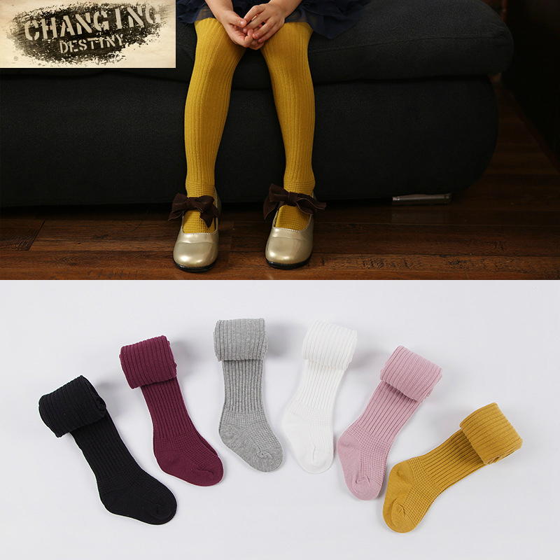 Spring Autumn for Girls Tights Cartoon Baby Girl Pantyhose Fashion Cotton Cute Kids Children Stockings Candy