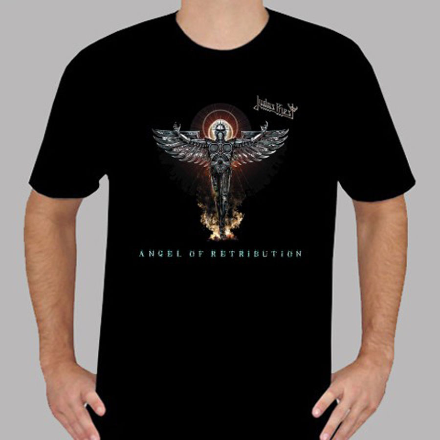 New Judas Priest Angel of Retribution Rock Band Mens Black T-Shirt Size S To 3XL New Arrival Male Tees Casual Boy T Shirt ...