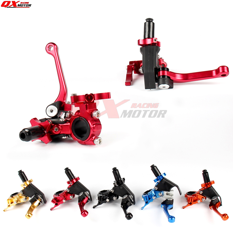 Universal Motorcycle CNC 360 Degree's Folding Clutch Lever Fit CRF KLX YZF RMZ KAYO BSE Dirt Bike MX Motocross Enduro Off Road