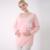 Nuevas mujeres de algodón de la camiseta de enfermería establece chándal juegos de color rosa y azul l, xl, XXL