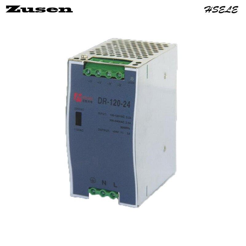 все цены на Zusen DR-120W-48V DR-120W-48V 2.5A overload protection Din Rail Switch Power supply 110/220VAC to 48VDC free shipping онлайн