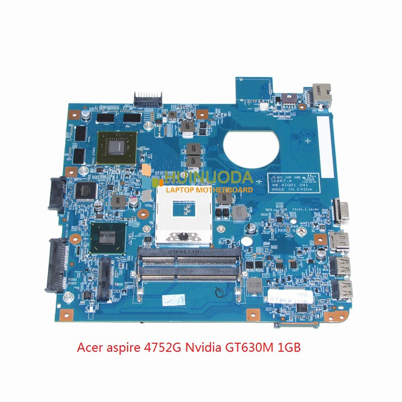 NOKOTION JE40 HR MB 10267-4 48.4IQ01.041 mainboard For acer aspire 4750 4752G laptop motherboard HM65 Nvidia GT630M ddr3 laptop motherboard fit for acer aspire 3820 3820t notebook pc mainboard hm55 48 4hl01 031 48 4hl01 03m