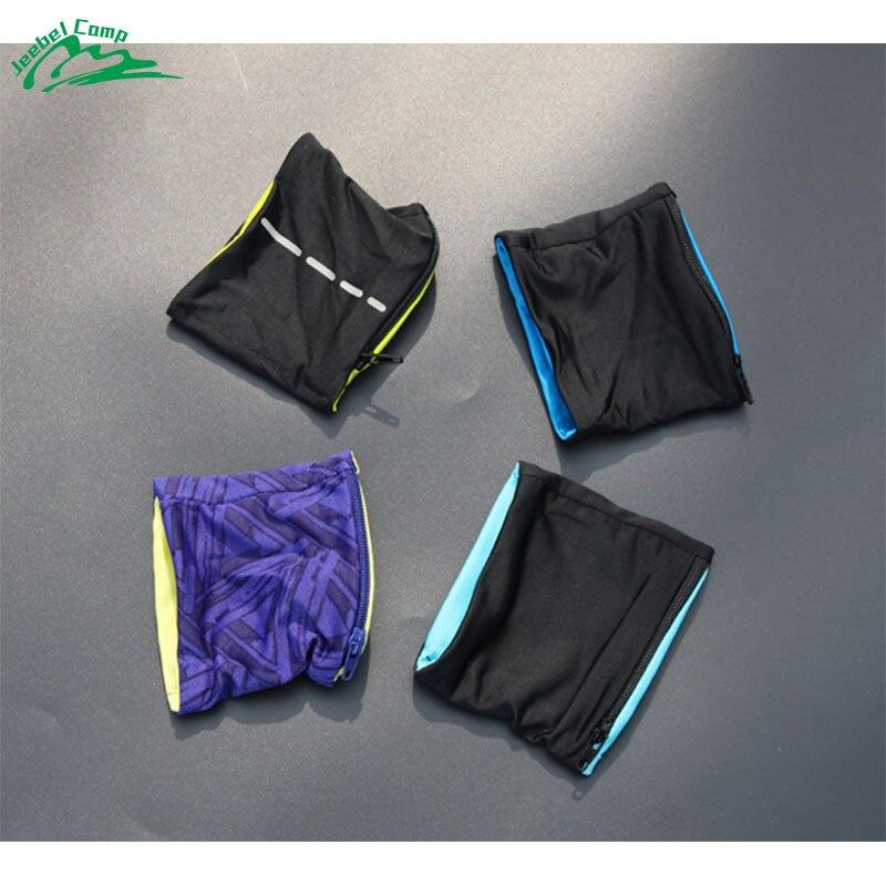 Jeebel Wrist Wallet Pouch Band Fleece Zipper Pocket Running Travel Gym Cycling Safe Sport Coin Key Storage Lightweight