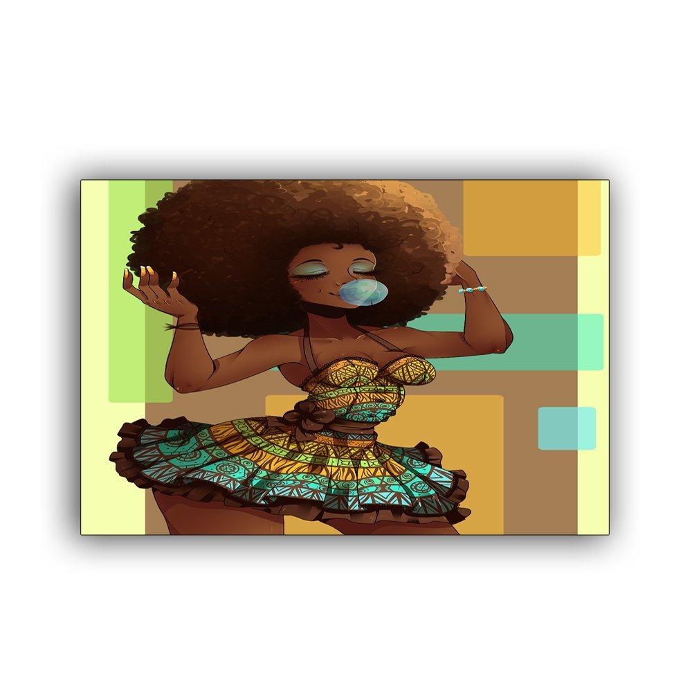 Personnalisé Femme Africaine Bienvenue Paillasson Tapis de Sol Tapis D'entrée, 23.6 x 15.7, Intérieur/Extérieur/Porte d'entrée/Voie D'entrée Salle De Bains Tapis