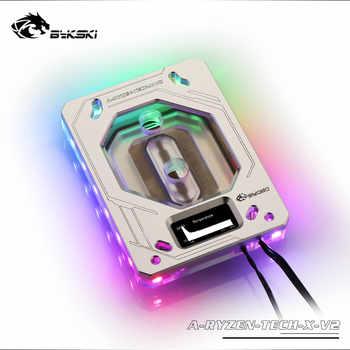 Bykski CPU Block For AM3/AM4 X399 Temperature Digital Monitoring Water Block, Monitor Temperature In Real Time A-RYZEN-TECH-X-V2