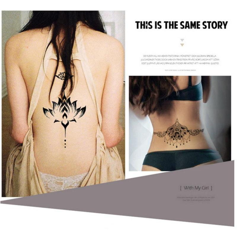 temporary Tattoo Black Waterproof Tattoo Sticker women Men Body Art Arm back Sleeve Tatoos A6 7