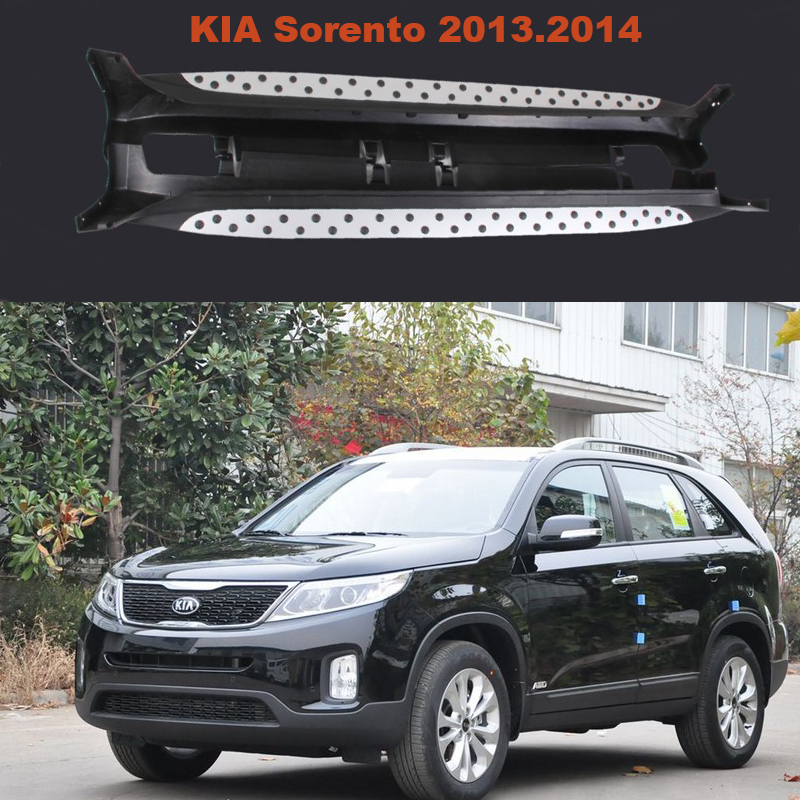 For KIA Sorento 2013.2014 Car Running Boards Auto Side Step Bar Pedals High Quality Brand New Particles Style Nerf Bars