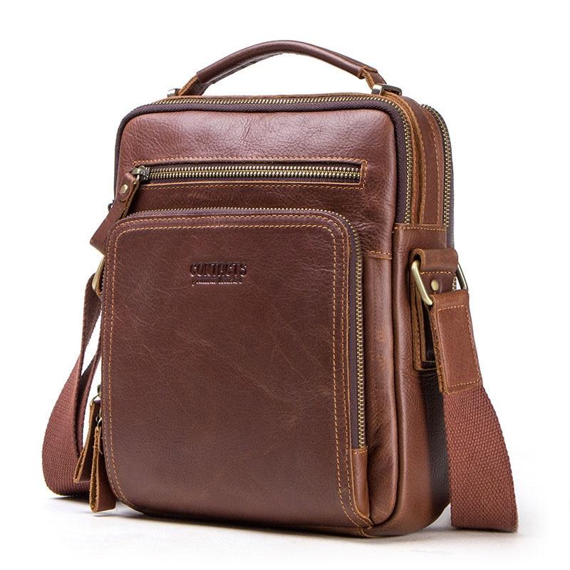 Genuine Leather Messenger Bag Men Shoulder Bag Casual Male