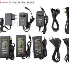 Светодиодный адаптер 12 В 1A 2A 3A 5A 6A 8A 10A блок питания светодиодной ленты низковольтный трансформатор для светодиодной ленты и компьютера